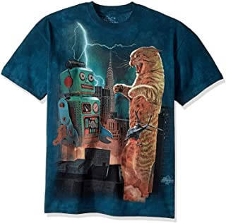 The Mountain Catzill Vs. Robot Adult T-Shirt