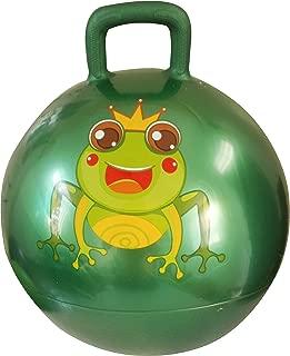 AppleRound Space Hopper Ball with Pump, 15in/38cm Diameter for Ages 3-5, Hop Ball, Kangaroo Bouncer, Hoppity Hop