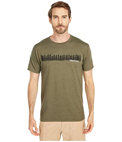 Marmot Forest Tee Short Sleeve (Olive Heather) Men