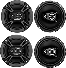 "4) Soundstorm SSL EX365 6.5"" 300W 3-Way Car Coaxial Audio Black Speakers Pair photo"