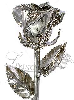Living Gold Real Rose Dipped in Platinum - Venus Rose (12