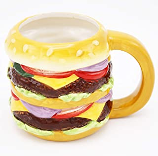 Island Dogs 59416 Double Burger Novelty Mug, 22 oz, Multicolor
