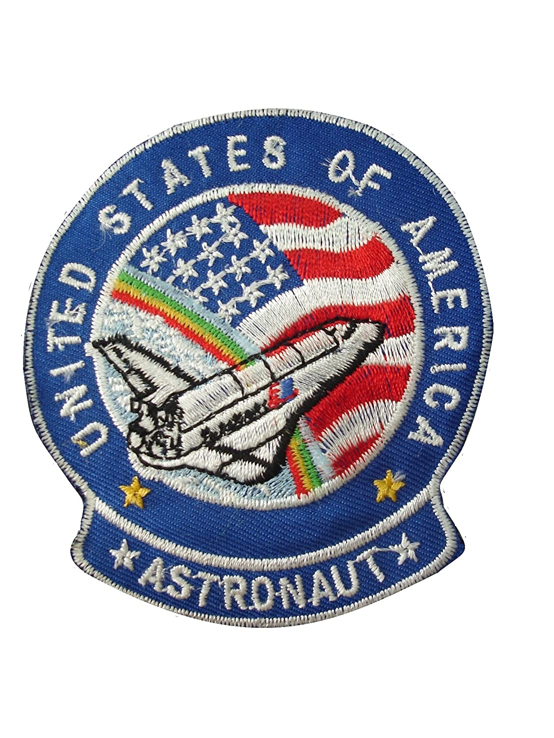 2 pieces ASTRONAUT Iron On Patch Embroidered Motif Applique NASA USA Space Mission Aeronautical Decal 3.2 x 2.9 inches (8 x 7.3 cm)