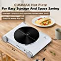 CUSIMAX 1500W Stainless Steel Electric Hot Plate