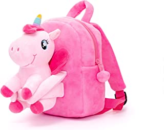 Kids Unicorn Backpack Plush Doll Toy Toddler Bags Adorable Plush Huggable Toys Shoulder Backpack for Girls Snack & Travel ...