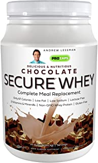 Andrew Lessman Secure Whey Complete Meal Replacement - Chocolate 30 Servings – Only 67 Calories, 7 Grams Whey Protein, Vit...