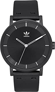 Adidas Watches District_L1. Genuine Leather Strap Watch,...