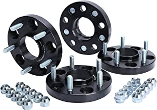 KSP 5X114.3mm Wheel Spacers 20mm Fit for Honda Accord Civic CR-V Element Acura CL ILX RSX TLX TSX MDX Forged Hubcentric 64.1mm bore, 12x1.5 Studs Black for 5 Lug Tires(4pcs), 2 Year Warranty