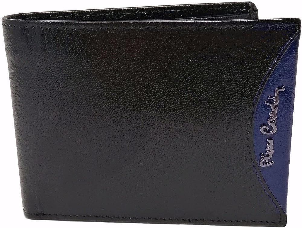 Pierre cardin portafoglio portamonete per uomo in pelle porta carte di credito con anticlonazione