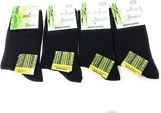 4 pairs Antibacterial 80% Bamboo Socks Breathable, Cycling, Bamboo Crew Socks, Bamboo Yoga Socks