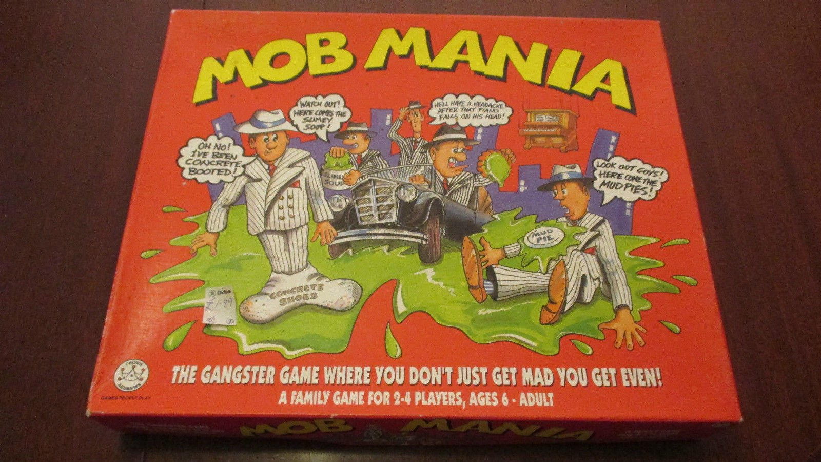 Mob Mania The Gangster Board Game Don T Get Mad Get Even 1992 Board Game Amazon Co Uk Toys Games