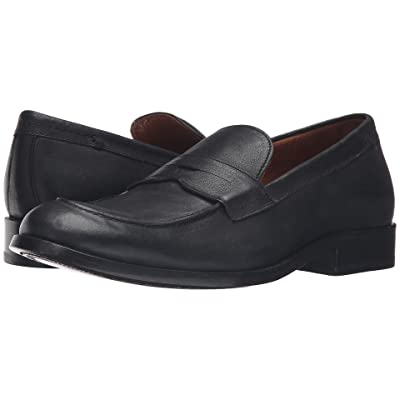 Frye Hayden Penny (Black Tumbled Full Grain) Men