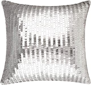 Merrycolor Sequin Throw Pillow Cover for Couch Sofa Sparkle Mermaid Decorative Cushion Cover Silver Glitter Accent Pillow ...