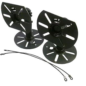 スピーカー用 天吊り 壁掛け 取付 金具 2個セット (1ペア) 汎用 取り付け金具