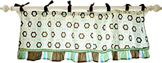 Brown, Green Forget Me Not Valance