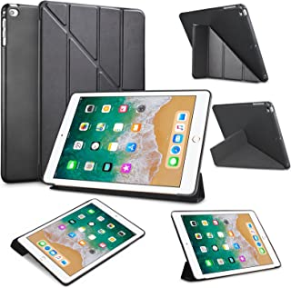 Tinysaturn iPad 9.7 Inch 2018/2017 / iPad Air 2 / iPad Air Case, Ultra Slim Lightweight Smart Cover Multi-fold Auto Wake/Sleep with Soft Silicone Back Case for iPad 9.7