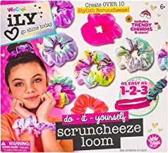 iLY Activity Kings Scrunchie Loom Kit, Fun & Easy to Make Scrunchies for Girls, DIY Craft Kit for Boosting Creativity & Imagination, Make 10 Trendy Colorful Scrunchies Packs, for Girl Aged 6 +