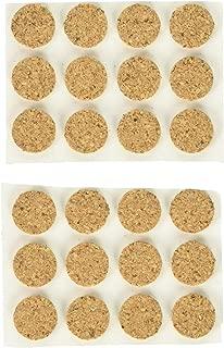Shepherd Hardware 9962 1/2-Inch SurfaceGard Adhesive Cork Pads, 24-Pack, Brown, 1/2 Inch