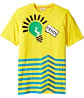 Fendi Kids - Short Sleeve Logo Light Bulb Graphic T-Shirt (Big Kids)