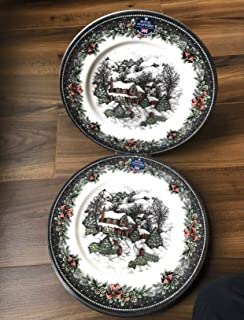 Royal Stafford Christmas Village Dinner Plate, Set of 4