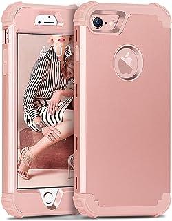 BENTOBEN iPhone 7 Funda, iPhone 8 Funda, 3 en 1 Carcasa Combinada PC Híbrido y Silicona TPU Suave Fuerte Resistente PC Bumper a Prueba de Golpes Cover Case Protectora Fundas para iPhone 7/8 (4.7'')