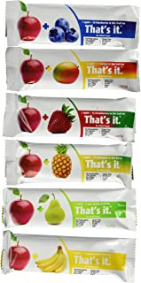 That's it. Apple + Variety 100% Natural Real Fruit Bar, 6 Flavors Variety Pack of 24