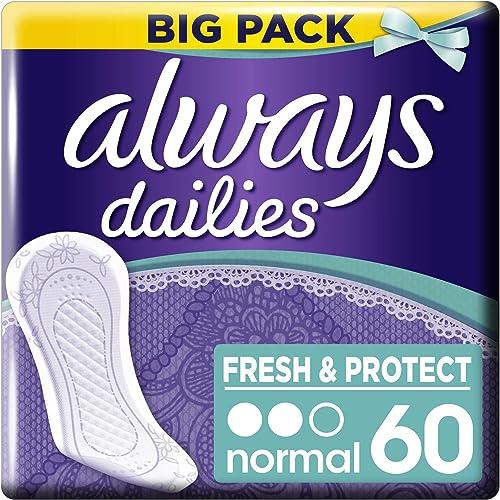 Always Dailies Fresh & Protect Lot de 60 protège-slips Normal