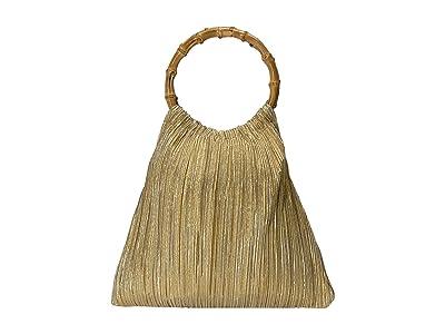 Loeffler Randall Mattie Bamboo Circle Handle Pouch (Gold) Handbags