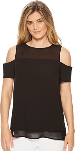 Calvin Klein - Short Sleeve Cold Shoulder Blouse