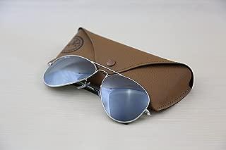 Authentic Ray Ban Aviator RB 3025 W3277 58mm Silver Frame / Full Grey Mirror Medium in Box