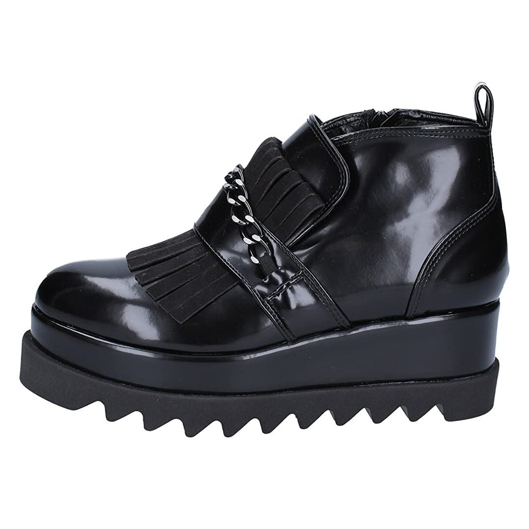 ハンサム見積りファックス[OLGA RUBINI] 古典的な女性の靴 レディース レザー ブラック 24.5cm