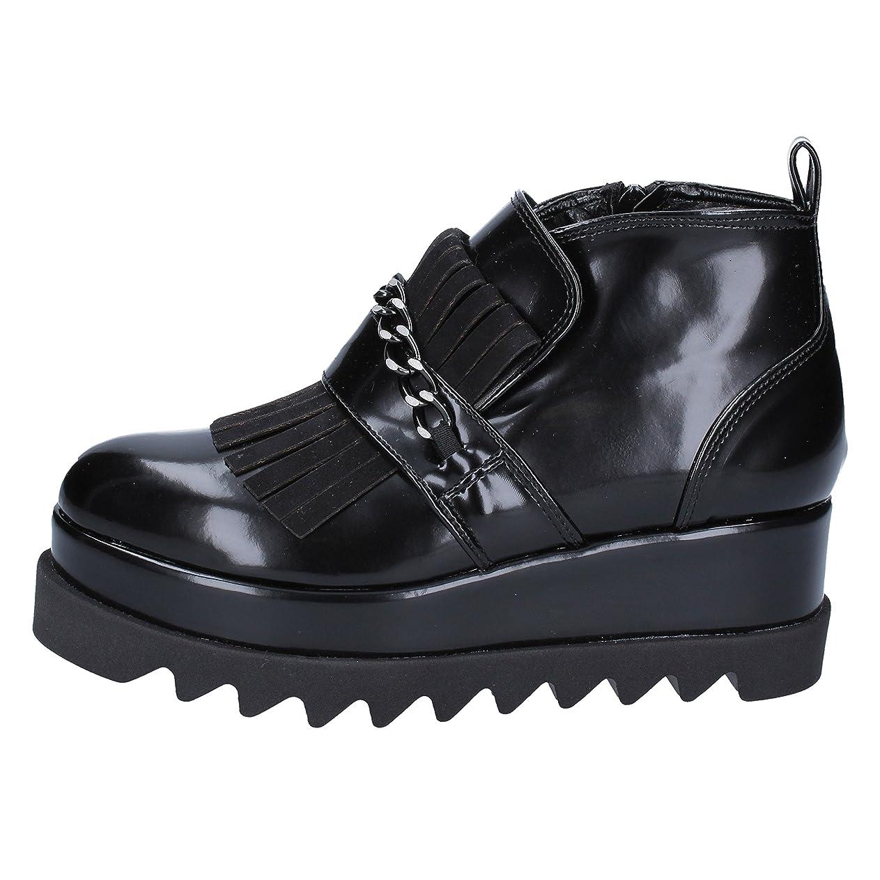 あたたかい目的[OLGA RUBINI] 古典的な女性の靴 レディース レザー ブラック 26.5cm