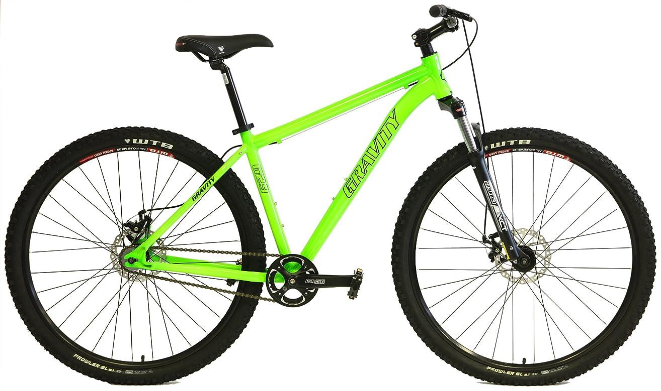 Gravity G29 FS 29er Single Speed Mountain Bike + Lock Out Suspension Fork Disc Brakes