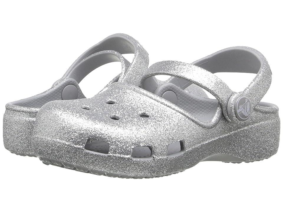 Crocs Kids Karin Sparkle Clog (Toddler/ Little Kid) (Silver) Girls Shoes