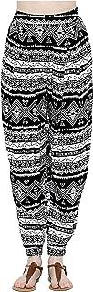 Elliott and Oliver Co. Bohemian Tribal Aztec Print Comfy Wide Leg Palazzo Pants- Yoga Harem Joggers