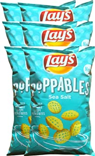 Lay's Poppables Sea Salt Perfectly Poppable Crispy Potato Bites Net Wt 5 Oz (6)