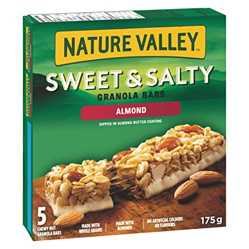 NATURE VALLEY Sweet and Salty Almond Granola Bars, 5 Count, 175 Gram