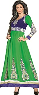 Florence Women's georgette straight Salwar Suit Set (SB-1327-Aug2019_ Green_ One Size)