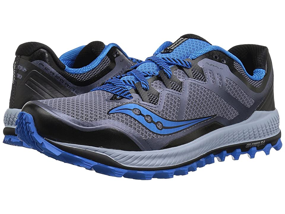 Saucony Peregrine 8 (Black/Grey/Blue) Men