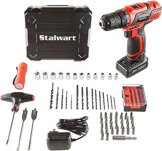 Stalwart 75-PT1004 20V Lithium Ion 62 Pc Cordless Drill & Accessory Kit,