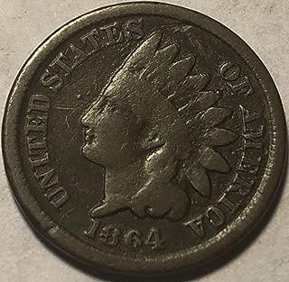 1864 P Indian Head Civil war ERA Penny Cent Good