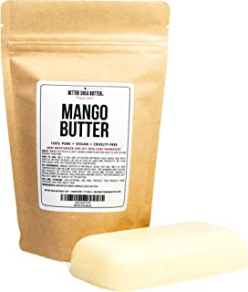 100% Pure Mango Butter - Can Substitute Shea Butter in Soap and Lotion Recipes - Moisturizing, Scent-free, ...