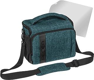 Pedea - Funda para cámara réflex con Protector de Pantalla para Olympus E-M10 E-M5 Mark II Pen E-PL8 E-PL9 Canon EOS M50 Nikon D5600 D7500 Panasonic Lumix DMC G9 G70 G81 GX8 GX80 Color Azul