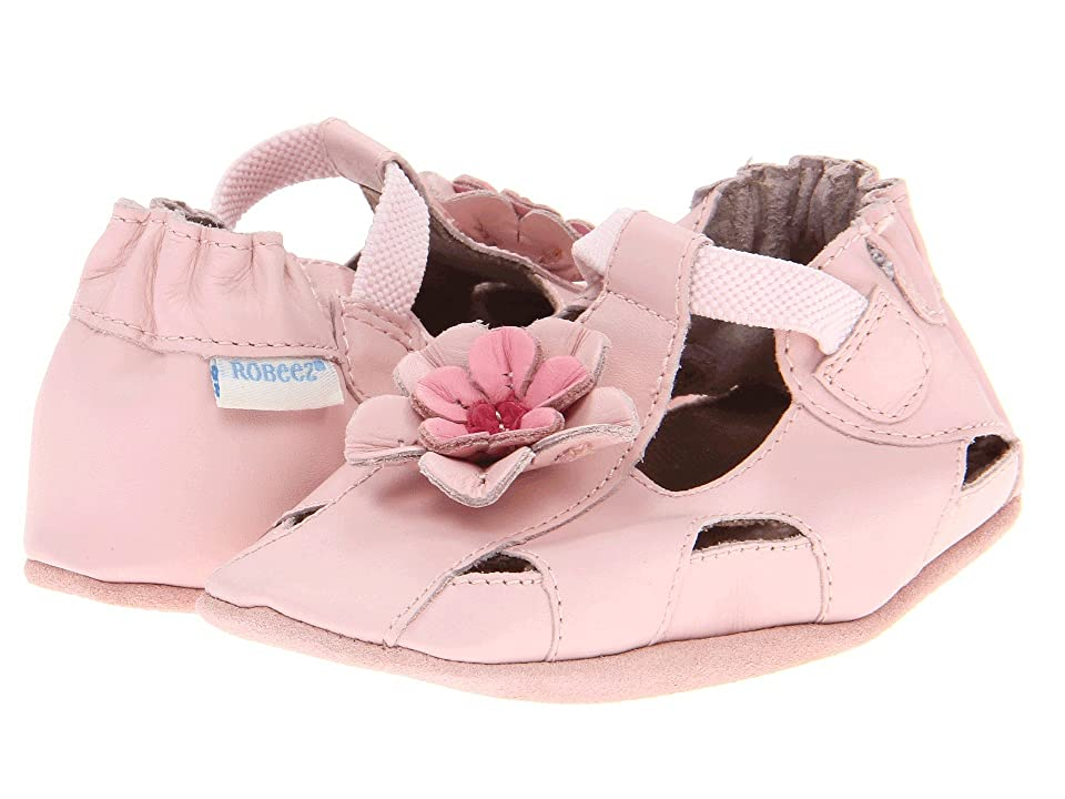 Robeez Pretty Pansy Soft Soles (Infant/Toddler) (Pink) Girls Shoes