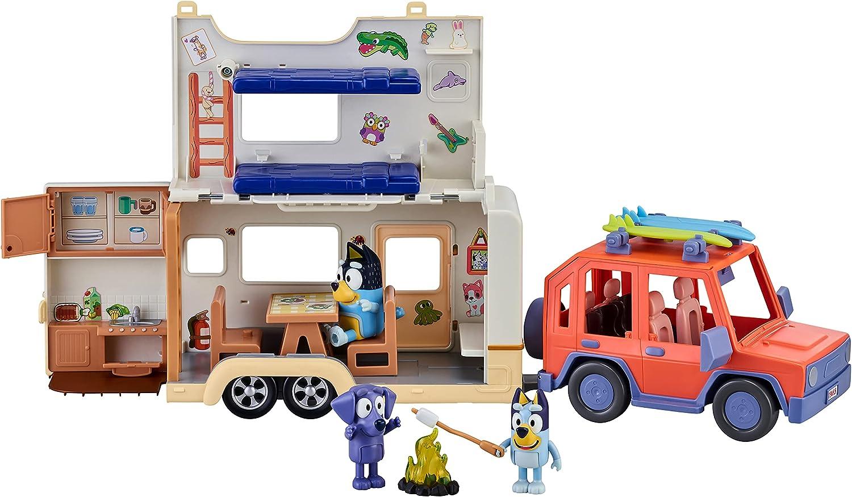Bluey Ultimate Caravan Adventures - The set with caravan open view
