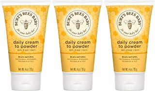 Burt's Bees Baby Daily Cream to Powder, Talc-Free Diaper Rash Cream - 4 Ounces Tube - Pack of 3