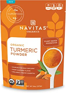 Navitas Organics Turmeric Powder, 8oz. Bag — Organic, Non-GMO, Gluten-Free