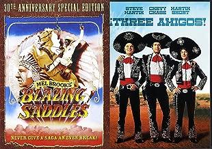 Blazing Saddles Special Edition & Three Amigos DVD Western Comedies Bundle Double Feature 2 Movie Set