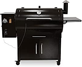 PIT BOSS PB1000SC 1000 sq in Wood Fired Full Lower Cabinet and Flame Broiler Pellet Grill, Black