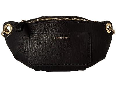 Calvin Klein Sonoma Bubble Lamb Novelty Fanny Pack (Black) Handbags